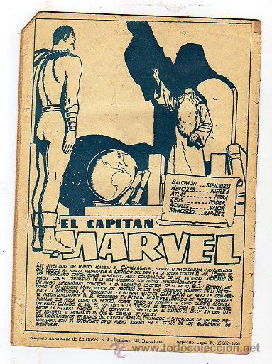 Tebeos: El capitan Marvel. Un pais extraño. y otras aventuras. nº7. Hispano Americana de Ed. 1960 - Foto 2 - 14090003