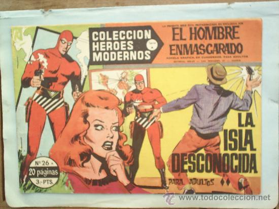 COLECCION HEROES MODERNOS,SERIE A ,EL HOMBRE ENMASCARADO N. 26 (Tebeos y Comics - Hispano Americana - Hombre Enmascarado)