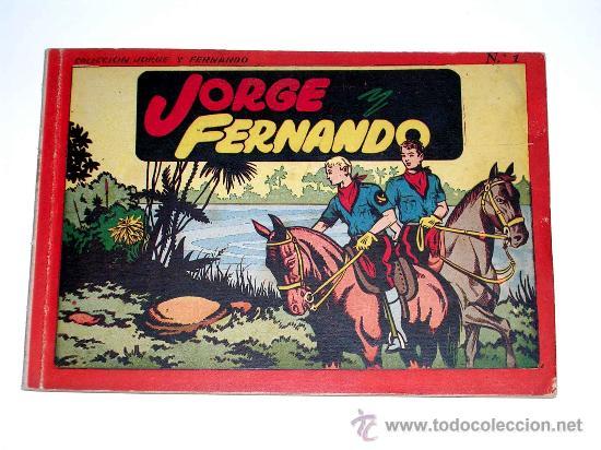 JORGE Y FERNANDO ALBUM Nº 1 ED. HISPANO AMERICANA BARCELONA, TAPA DURA, ORIGINAL 1944. EXCELENTE. (Tebeos y Comics - Hispano Americana - Jorge y Fernando)