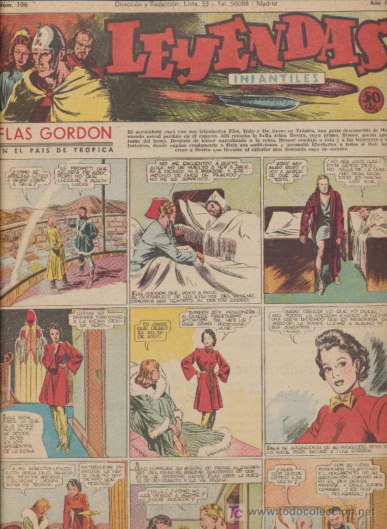LEYENDAS INFANTILES Nº 106. HISPANO AMERICANA 1944. (Tebeos y Comics - Hispano Americana - Leyendas Infantiles)