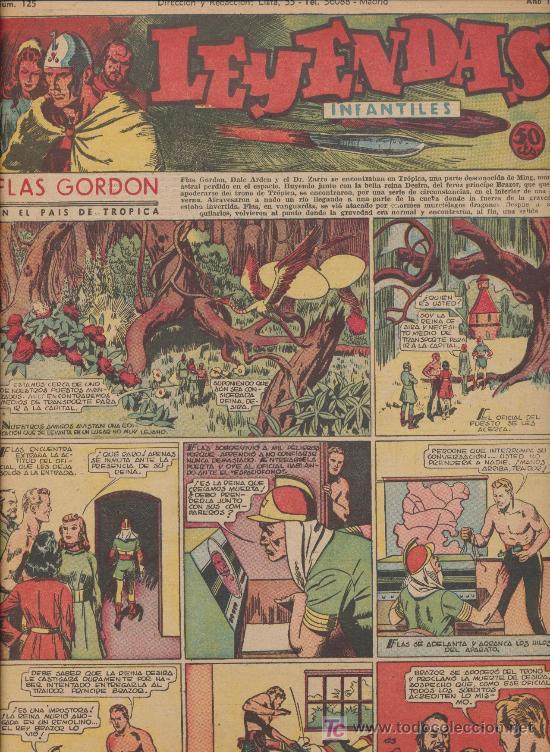 LEYENDAS INFANTILES Nº 125. HISPANO AMERICANA 1944. (Tebeos y Comics - Hispano Americana - Leyendas Infantiles)