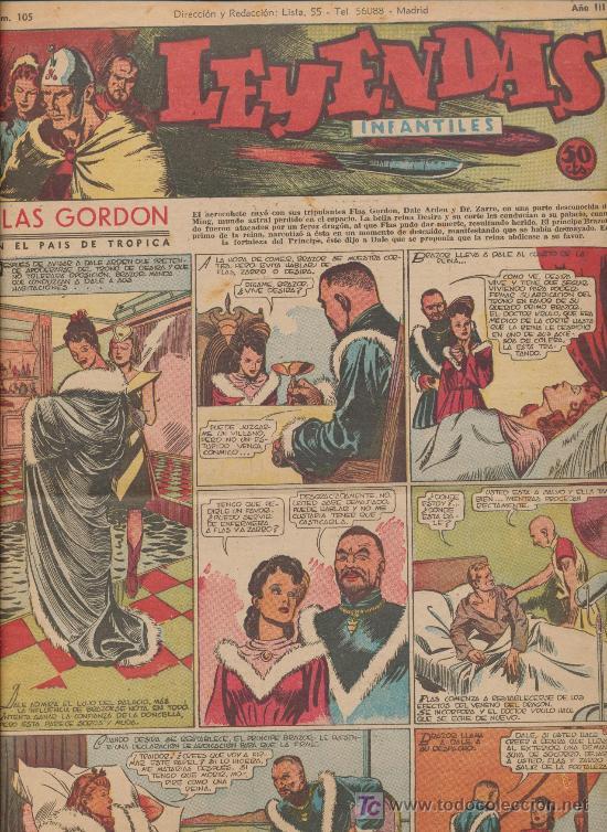 LEYENDAS INFANTILES Nº 105. HISPANO AMERICANA 1944. (Tebeos y Comics - Hispano Americana - Leyendas Infantiles)