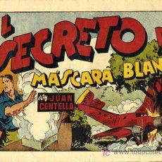 Tebeos: JUAN CENTELLA Nº 5 , EL SECRETO DE MASCARA BLANCA ,HISPANO AMERICANA ,GRANDE. Lote 26570442