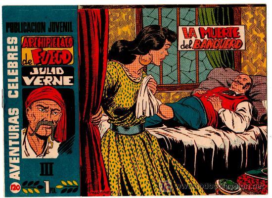 AVENTURAS CELEBRES Nº 120, HISPANO AMERICANA 1958, MARTINEZ OSETE, JULIO VERNE,ARCHIPIELAGO DE FUEGO (Tebeos y Comics - Hispano Americana - Otros)