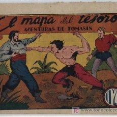 Tebeos: AVENTURAS DE TOMASÍN Nº 2. EL MAPA DEL TESORO. I.G.A. HISPANO AMERICANA 1944.. Lote 17416200