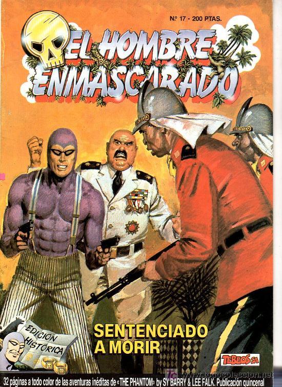EL HOMBRE ENMASCARADO Nº 17. SENTENCIADO A MORIR (Tebeos y Comics - Hispano Americana - Hombre Enmascarado)