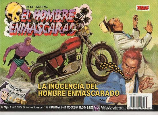EL HOMBRE ENMASCARADO Nº 60. LA INOCENCIA DEL HOMBRE ENMASCARADO (Tebeos y Comics - Hispano Americana - Hombre Enmascarado)