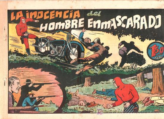 AVENTURA DEL HOMBRE ENMASCARADO. LA INOCENCIA DEL HOMBRE ENMASCARADO. EDICIONES HISPANO AMERICANA (Tebeos y Comics - Hispano Americana - Hombre Enmascarado)