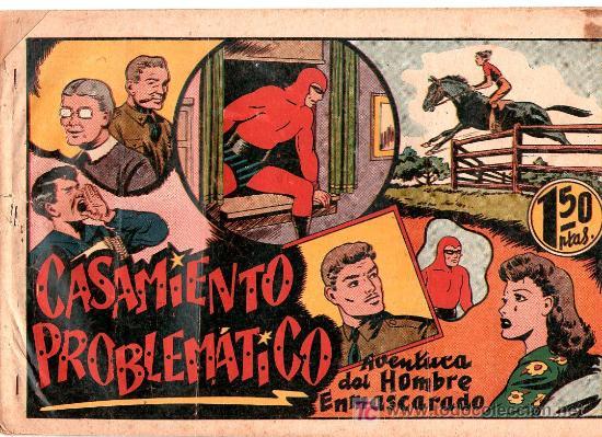 AVENTURA DEL HOMBRE ENMASCARADO. CASAMIENTO PROBLEMATICO. EDICIONES HISPANO AMERICANA (Tebeos y Comics - Hispano Americana - Hombre Enmascarado)