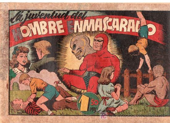 AVENTURA DEL HOMBRE ENMASCARADO. LA JUVENTUD DEL HOMBRE ENMASCARADO. EDICIONES HISPANO AMERICANA (Tebeos y Comics - Hispano Americana - Hombre Enmascarado)