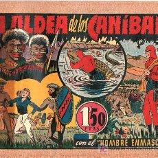 Tebeos: AVENTURA DEL HOMBRE ENMASCARADO. LA ALDEA DE LOS CANIBALES. EDICIONES HISPANO AMERICANA. Lote 18026476