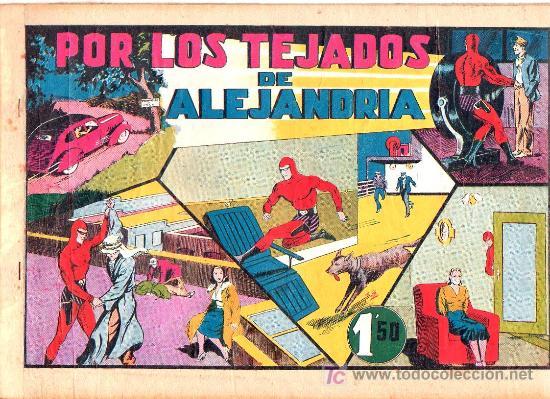 AVENTURA DEL HOMBRE ENMASCARADO. POR LOS TEJADOS DE ALEJANDRIA. EDICIONES HISPANO AMERICANA (Tebeos y Comics - Hispano Americana - Hombre Enmascarado)
