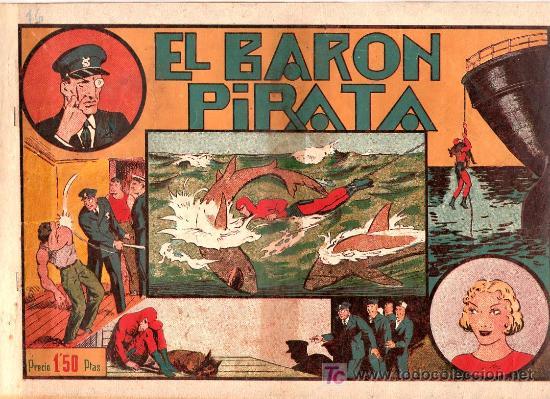AVENTURA DEL HOMBRE ENMASCARADO. EL BARON PIRATA. EDICIONES HISPANO AMERICANA (Tebeos y Comics - Hispano Americana - Hombre Enmascarado)
