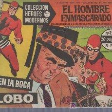 Tebeos: COLECCION HEROES MODERNOS. SERIE A Nº 12. EL HOMBRE ENMASCARADO. EN LA BOCA DEL LOBO. Lote 18063265