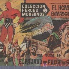 Tebeos: COLECCION HEROES MODERNOS PARA ADULTOS.SERIE A Nº 18.EL HOMBRE ENMASCARADO.EL PAJARO DE FUEGO. Lote 18063464