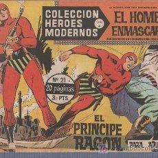 Tebeos: COLECCION HEROES MODERNOS PARA ADULTOS.SERIE A Nº 21.EL HOMBRE ENMASCARADO. EL PRINCIPE RAGON. Lote 18063492