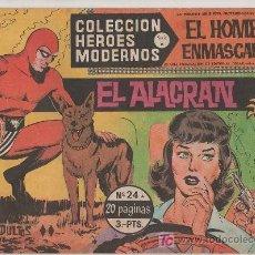 Tebeos: COLECCION HEROES MODERNOS PARA ADULTOS.SERIE A Nº 24.EL HOMBRE ENMASCARADO. EL ALACRAN. Lote 18063519