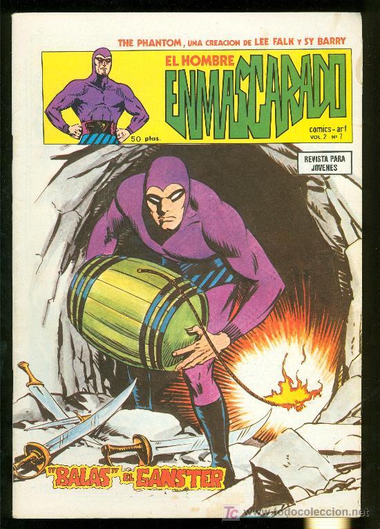 EL HOMBRE ENMASCARADO. LEE FALK Y SY BARRY. VOL. 2 Nº 7. (Tebeos y Comics - Hispano Americana - Hombre Enmascarado)