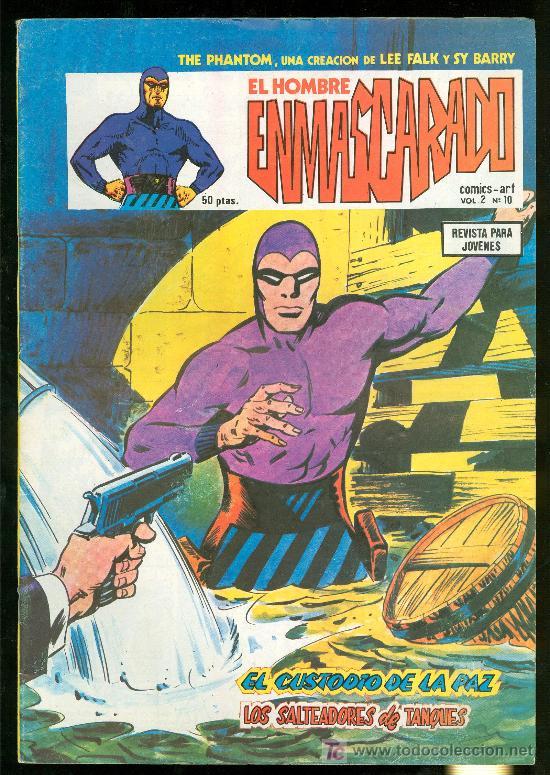 EL HOMBRE ENMASCARADO. LEE FALK Y SY BARRY. VOL. 2 Nº 10. (Tebeos y Comics - Hispano Americana - Hombre Enmascarado)