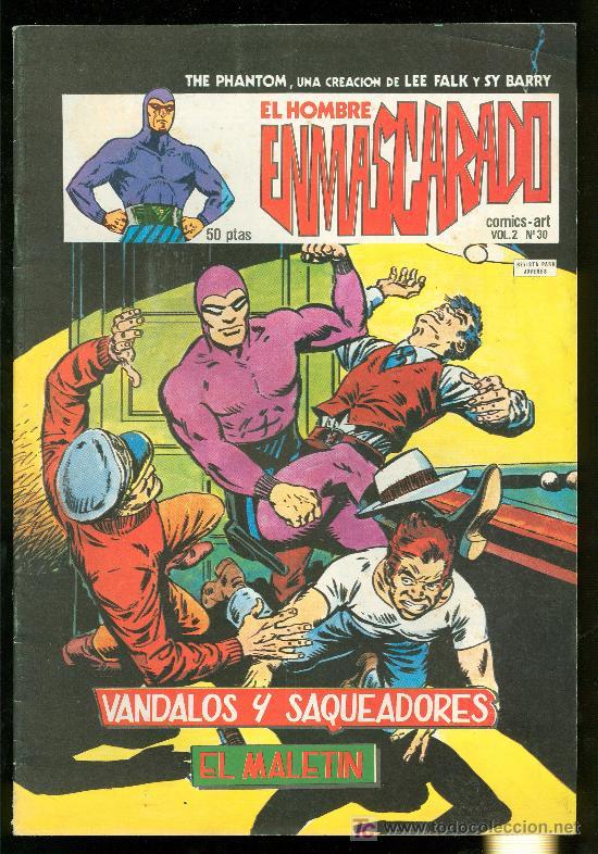 EL HOMBRE ENMASCARADO. LEE FALK Y SY BARRY. VOL. 2 Nº 30. (Tebeos y Comics - Hispano Americana - Hombre Enmascarado)