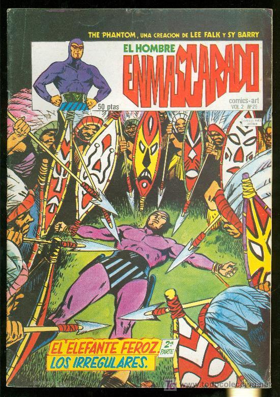 EL HOMBRE ENMASCARADO. LEE FALK Y SY BARRY. VOL. 2 Nº 25. (Tebeos y Comics - Hispano Americana - Hombre Enmascarado)