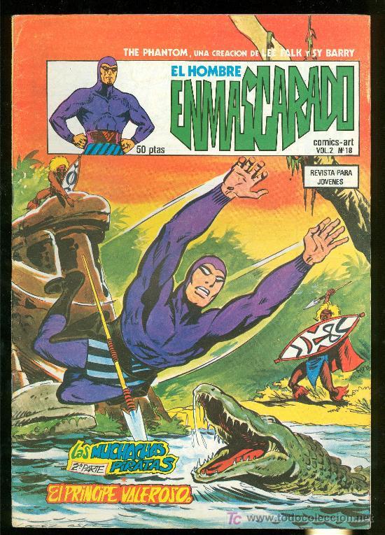 EL HOMBRE ENMASCARADO. LEE FALK Y SY BARRY. VOL. 2 Nº 18. (Tebeos y Comics - Hispano Americana - Hombre Enmascarado)