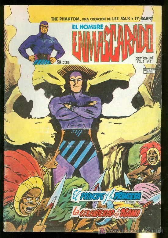 EL HOMBRE ENMASCARADO. LEE FALK Y SY BARRY. VOL. 2 Nº 21. (Tebeos y Comics - Hispano Americana - Hombre Enmascarado)