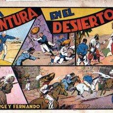Tebeos: COMIC JORGE Y FERNANDO UNA AVENTURA EN EL DESIERTO. Lote 19261994