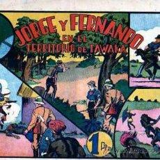 Tebeos: COMIC JORGE Y FERNANDO EN EL TERRITORIO DE TAWAKA. Lote 19262075