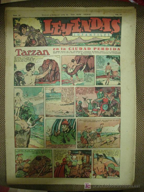 LEYENDAS INFANTILES. Nº 92. (Tebeos y Comics - Hispano Americana - Leyendas Infantiles)