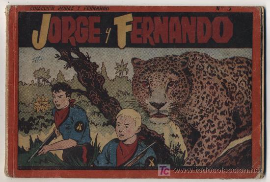 JORGE Y FERNANDO. ALBUM ROJO Nº 3. HISPANO AMERICANA. (Tebeos y Comics - Hispano Americana - Jorge y Fernando)