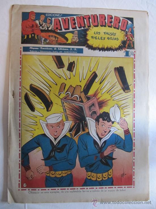 AVENTURERO - HISPANO AMERICANA - NÚMERO 12 - 1945 + LÁMINA REAL GIJÓN (Tebeos y Comics - Hispano Americana - Aventurero)