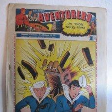Tebeos: AVENTURERO - HISPANO AMERICANA - NÚMERO 12 - 1945 + LÁMINA REAL GIJÓN. Lote 27368144