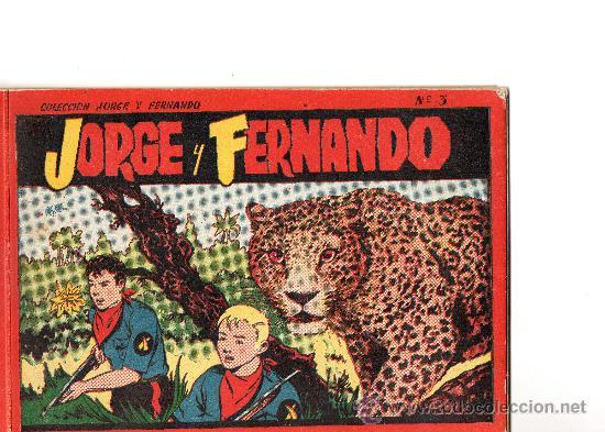JORGE Y FERNANDO ALBUM ROJO Nº 3 EDITA HISPANO AMERICANA (Tebeos y Comics - Hispano Americana - Jorge y Fernando)
