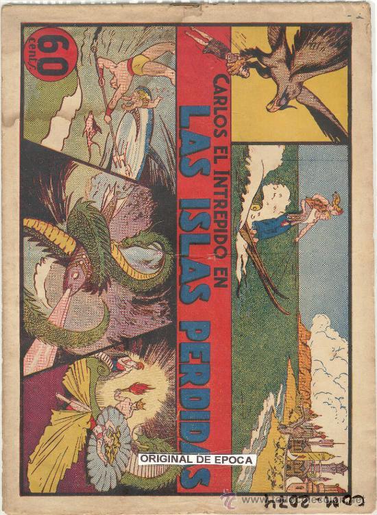 (COM-2074)COMIC CARLOS EL INTREPIDO EN LAS ISLAS PERDIDAS Nº1 (Tebeos y Comics - Hispano Americana - Carlos el Intrépido)
