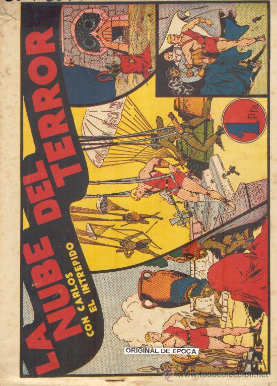 (COM-2079)COMIC CARLOS EL INTREPIDO EN LA NUBE DEL TERROR (Tebeos y Comics - Hispano Americana - Carlos el Intrépido)