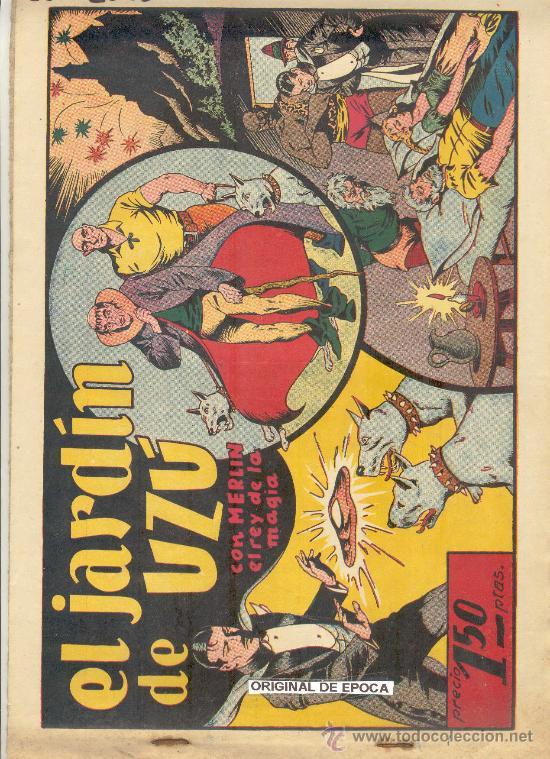 (COM-2082)COMIC MERLIN EL REY DE LA MAGIA EN EL JARDIN DE UZU (Tebeos y Comics - Hispano Americana - Merlín)