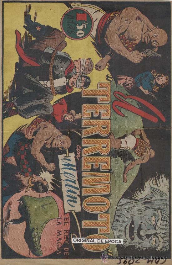 (COM-2095)COMIC CON MERLIN EL REY DE LA MAGIA EN TERREMOTO (Tebeos y Comics - Hispano Americana - Merlín)