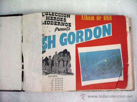 Tebeos: ANTIGUO FLASH GORDON ALBUM DE ORO EDITORIAL DÓLAR ENCUADERNACION DE EPOCA 1958 COMPLETO - Foto 4 - 26634700