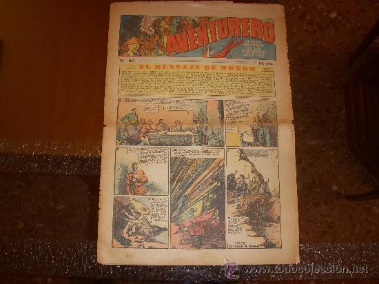 AVENTURERO Nº 85, 15 CÉNTIMOS, EDITORIAL HISPANO AMERICANA (Tebeos y Comics - Hispano Americana - Aventurero)