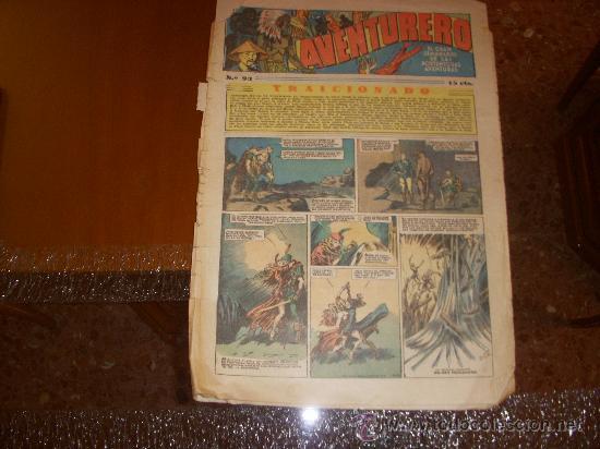 AVENTURERO Nº 93, 15 CÉNTIMOS, EDITORIAL HISPANO AMERICANA (Tebeos y Comics - Hispano Americana - Aventurero)