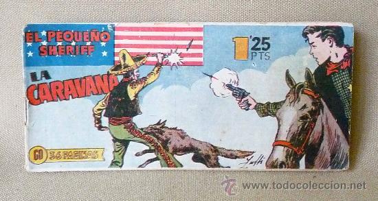 COMIC, EL PEQUEÑO SHERIFF, EDITORIAL HISPANO AMERICANA, Nº 123, ORIGINAL, LA CARAVANA, (Tebeos y Comics - Hispano Americana - Otros)