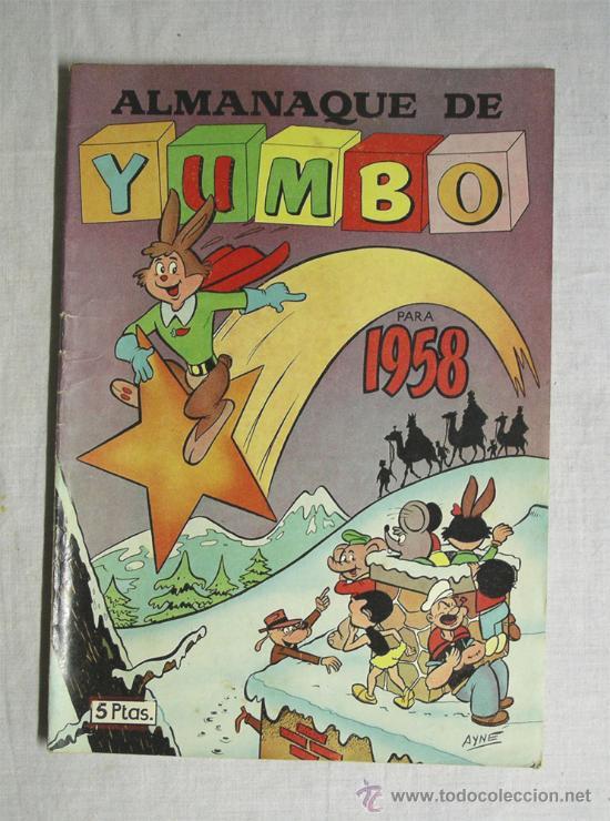 ALMANAQUE 1958 YUMBO (Tebeos y Comics - Hispano Americana - Yumbo)