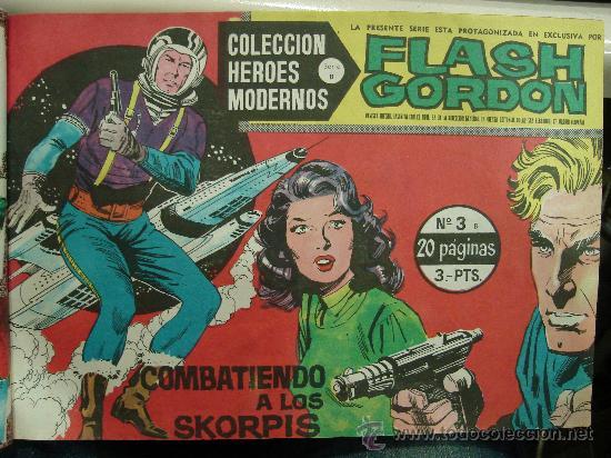 Tebeos: COMICS TEBEOS FLASH GORDON. COLECCION HEROES MODERNOS. SERIE B. 22 NUMEROS. - Foto 3 - 26114131