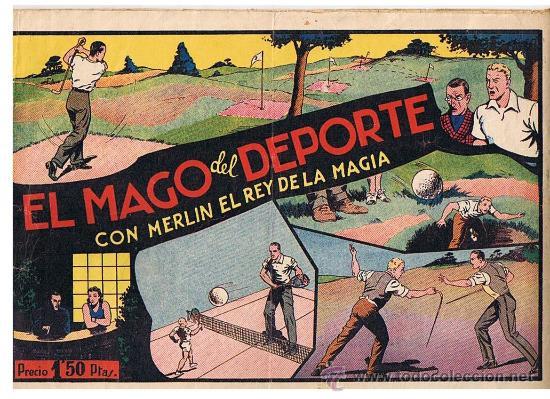 MERLIN Nº 33. EL MAGO DEL DEPORTE. HISPANO AMERICANA 1942. (Tebeos y Comics - Hispano Americana - Merlín)