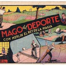 Tebeos: MERLIN Nº 33. EL MAGO DEL DEPORTE. HISPANO AMERICANA 1942.. Lote 23686904