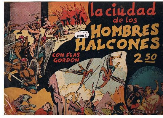 FLAS GORDON Nº 2. LA CIUDAD DE LOS HOMBRES HALCONES (24,5X34,5) HISPANO AMERICANA.CON CROMOS (Tebeos y Comics - Hispano Americana - Flash Gordon)