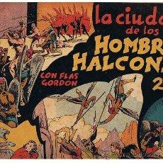 Tebeos: FLAS GORDON Nº 2. LA CIUDAD DE LOS HOMBRES HALCONES (24,5X34,5) HISPANO AMERICANA.CON CROMOS. Lote 23687714