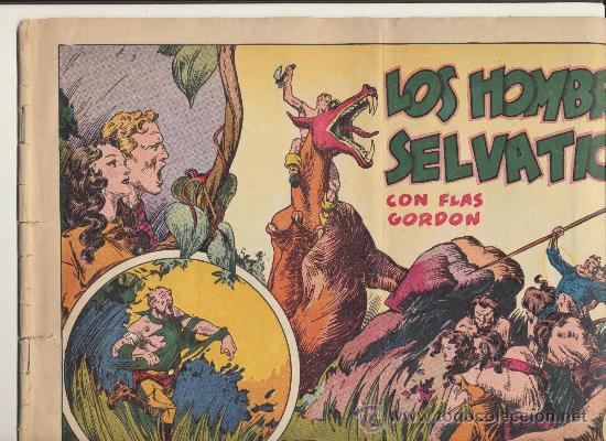 FLAS GORDON. LOS HOMBRES SELVÁTICOS. HISPANO AMERICANA. G.A.E. (Tebeos y Comics - Hispano Americana - Flash Gordon)