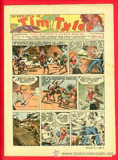 TIM TYLER , HISPANO AMERICANA 20 CTS. , ORIGINAL ANTIGUO , Nº 71 (Tebeos y Comics - Hispano Americana - Tim Tyler)
